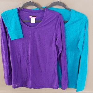 Bundle of 2 Lacey long sleeve t-shirts